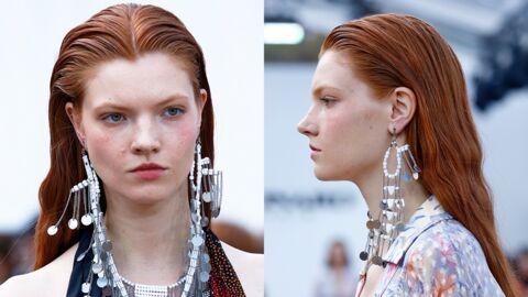 Fashion Week printemps été 2019: l'effet plaqué pour vos cheveux a la cote chez Léonard