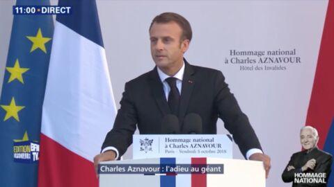 VIDEO Hommage national à Charles Aznavour: l'émouvant discours d'Emmanuel Macron