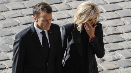 Hommage national à Charles Aznavour: Brigitte Macron très émue aux Invalides