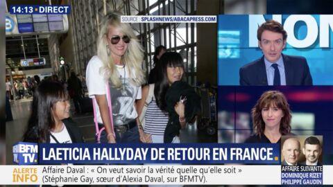 VIDEO Laeticia Hallyday de retour à Paris: les deux symboles qu'elle a choisis pour rendre hommage à Johnny