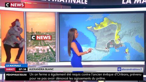 VIDEO La présentatrice météo de CNews terrorisée par un clown pour Halloween