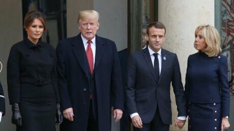 PHOTOS Donald Trump manque de mettre un vent à Brigitte Macron