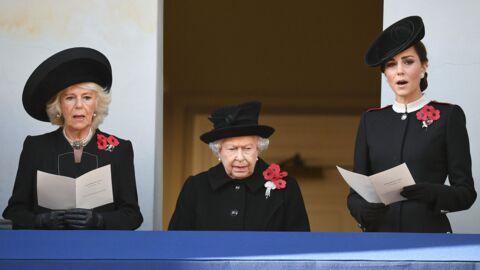 PHOTOS Kate Middleton au côté de la reine Elizabeth II, Meghan Markle à l'écart