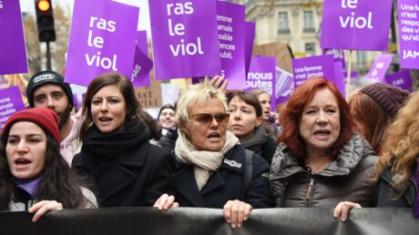 PHOTOS Muriel Robin, Anna Mouglalis en tête du cortège de la marche contre les violences faites aux femmes