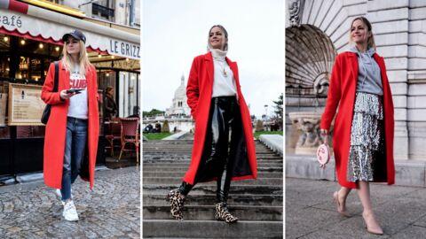 Style coach: 3 façons de porter le manteau rouge
