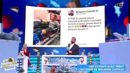 VIDEO Benjamin Castaldi a eu un accident: une voyante l'avait prédit dans le cassoulet