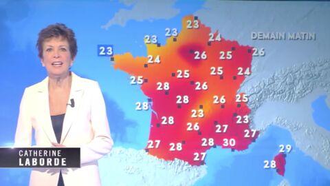 VIDEO Catherine Laborde: l'ancienne présentatrice météo reprend du service pour C8