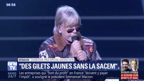 VIDEO Renaud récompensé par la Sacem: pourquoi il a refusé de chanter sur scène