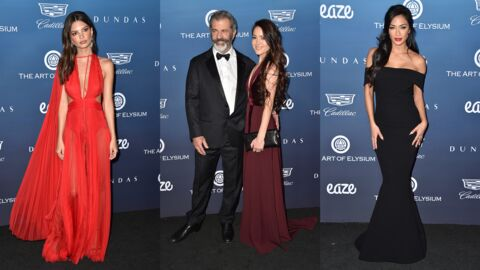 PHOTOS Emily Ratajkowski très décolletée, Mel Gibson amoureux de sa jeune compagne au gala Art of Elysium
