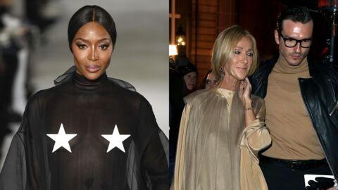 PHOTOS Naomi Campbell montre ses seins, Céline Dion en larmes et Juliette Binoche décadente à la fashion week