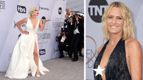 PHOTOS SAG Awards  2019 : Lady Gaga sublime en robe fendue ultra décolletée, Robin Wright en montre un peu trop