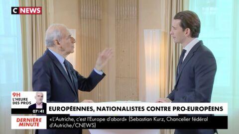 VIDEO Quand CNews coupe Jean-Pierre Elkabbach en pleine interview avec le chancelier autrichien