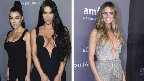 PHOTOS Gala de l'AmfAR: Kourtney et Kim Kardashian assorties, Heidi Klum en décolleté vertigineux