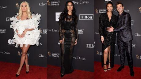 PHOTOS Rita Ora en robe courte et originale, Nicole Scherzinger en montre trop à la soirée des Pré-Grammy Awards