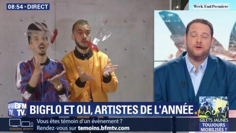 VIDEO Bigflo et Oli cassent leur Victoire de la musique en direct sur BFM TV