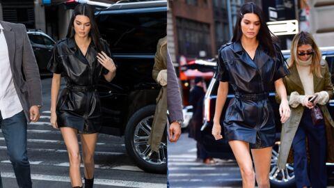 Kendall Jenner canon en petite robe en cuir: on veut la même!