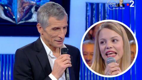 VIDEO N'oubliez pas les paroles: Nagui gêné par le lapsus coquin d'une candidate