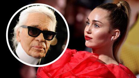 PHOTO Miley Cyrus rend hommage à Karl Lagerfeld… à moitié nue!