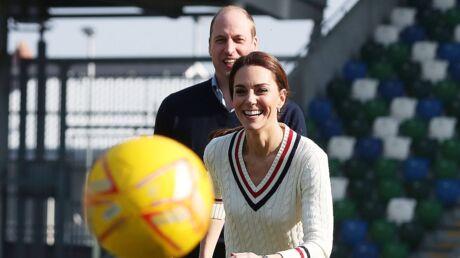 PHOTOS Kate Middleton et le prince William s'affrontent lors d'une partie de foot endiablée