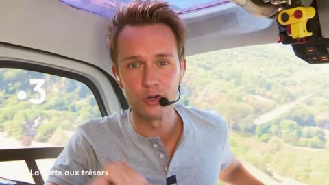 La Carte aux trésors: l'astuce de Cyril Féraud pour éviter d'être malade dans l'hélicoptère