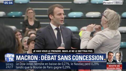 VIDEO Emmanuel Macron: le drôle de cadeau que lui a offert une Gilet jaune