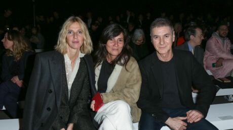 PHOTOS Leïla Bekhti en costume, Étienne Daho et Sandrine Kiberlain au premier rang du défilé Céline