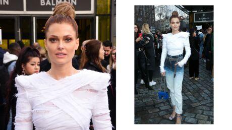 Fashion Week – Caroline Receveur sublime lors du défilé Balmain
