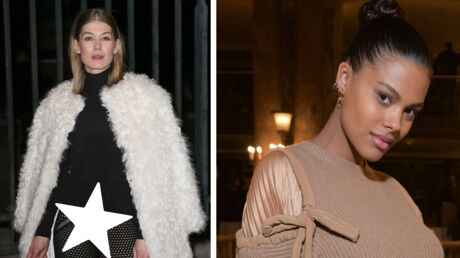 PHOTOS Rosamund Pike montre sa culotte et Tina Kunakey cache son baby bump à la fashion week