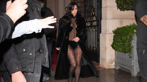 PHOTOS Kim Kardashian sexy en tenue léopard transparente dans les rues de Paris