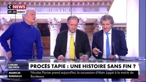 VIDEO Bernard Tapie furieux: après Europe 1, il menace de quitter le plateau de CNews