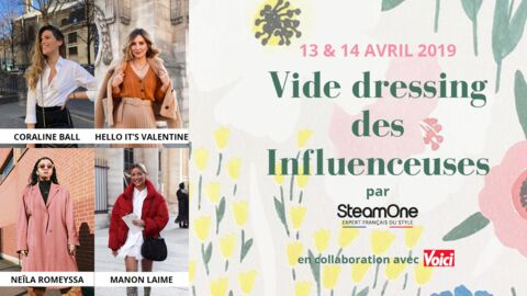 Voici et SteamOne vous invitent à leur vide-dressing parisien spécial influenceuses