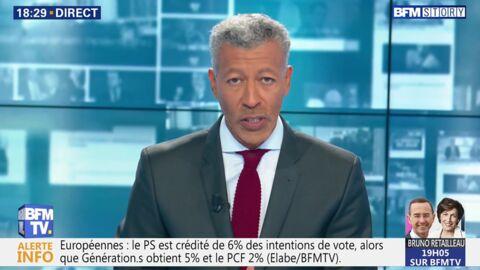 VIDEO Rachid M'Barki confronté à un gros bug technique en plein direct sur BFM TV