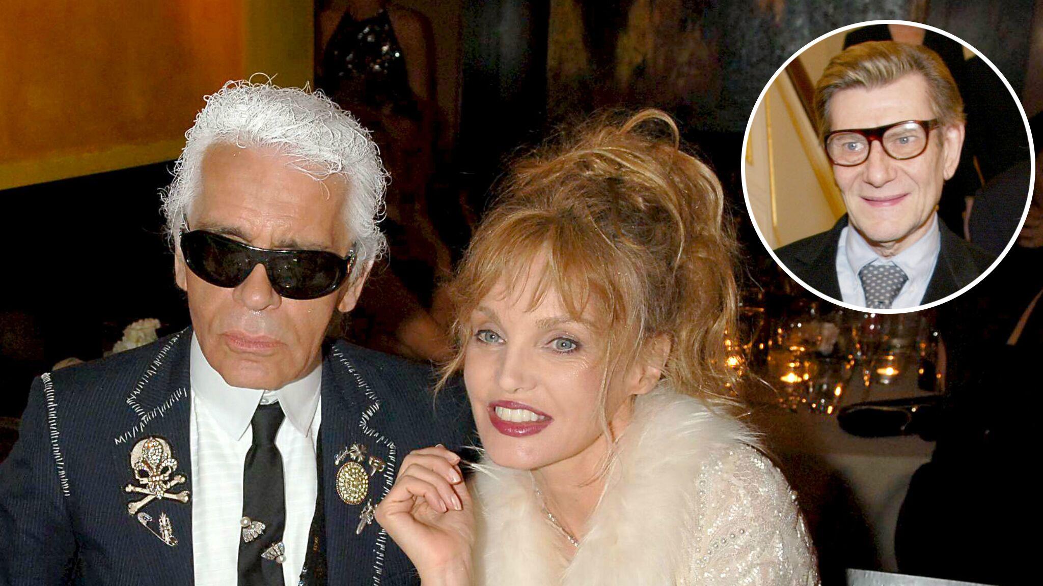 Karl Lagerfeld : le pied de nez de son amie Arielle Dombasle lors de l'enterrement d'Yves Saint Laurent