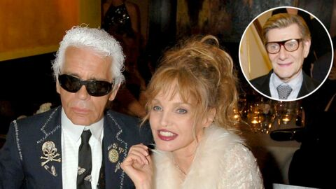 Karl Lagerfeld: le pied de nez de son amie Arielle Dombasle lors de l'enterrement d'Yves Saint Laurent