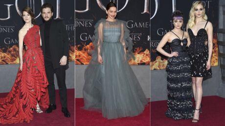 PHOTOS Robes étonnantes pour Emilia Clarke et Sophie Turner à l'avant-première de Game of Thrones