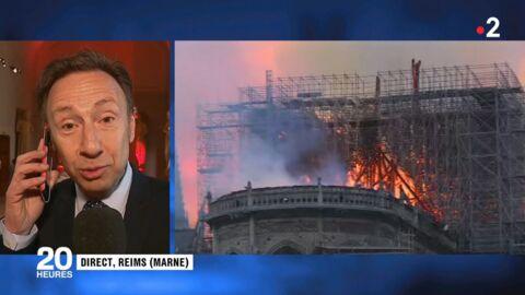 VIDÉO Stéphane Bern en larmes en découvrant Notre-Dame de Paris ravagée par les flammes