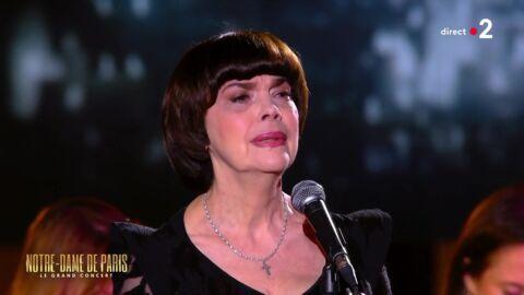 VIDEO Concert hommage à Notre-Dame de Paris: Mireille Mathieu craque lors de sa prestation