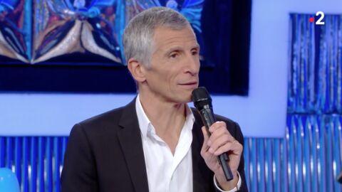 VIDEO Nagui fait une blague osée sur l'anecdote coquine d'un candidat de N'oubliez pas les paroles