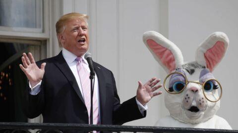 PHOTOS Donald Trump provoque l'hilarité des internautes en posant avec un gros lapin