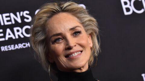PHOTO Sharon Stone: à 61 ans, l'actrice pose seins nus dans une piscine