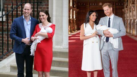 PHOTOS Ce gros détail qui différencie la présentation des bébés de Kate et William et celle de Meghan et Harry