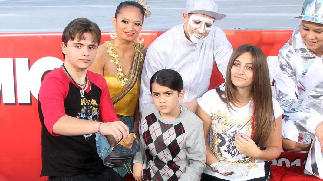 Prince, Blanket et Paris Jackson en 2012