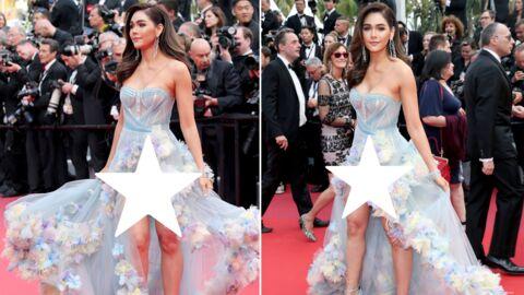 Cannes 2019: Araya Hargate en montre BEAUCOUP trop sur les marches des «Misérables»