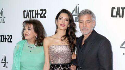 PHOTOS George Clooney pose avec sa femme et sa belle-mère lors d'une avant-première