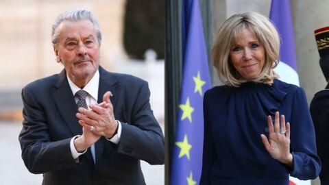 Alain Delon charmé par Brigitte Macron, ce qu'il reproche à Emmanuel Macron