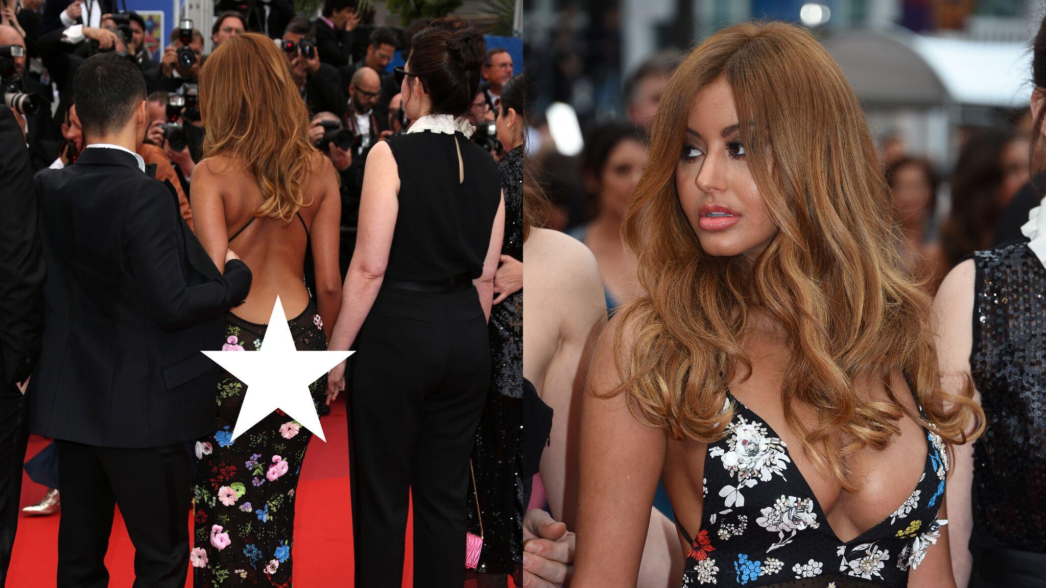 Cannes 2019 : Zahia en string apparent et décolleté incendiaire enflamme le tapis rouge