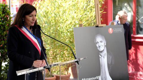 PHOTOS Charles Aznavour: son fils et sa soeur inaugurent une plaque commémorative à Paris