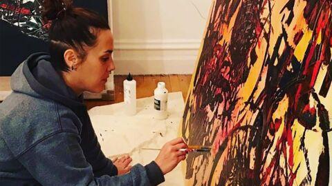 PHOTOS Zaz est aussi peintre: la chanteuse a dévoilé ses tableaux abstraits