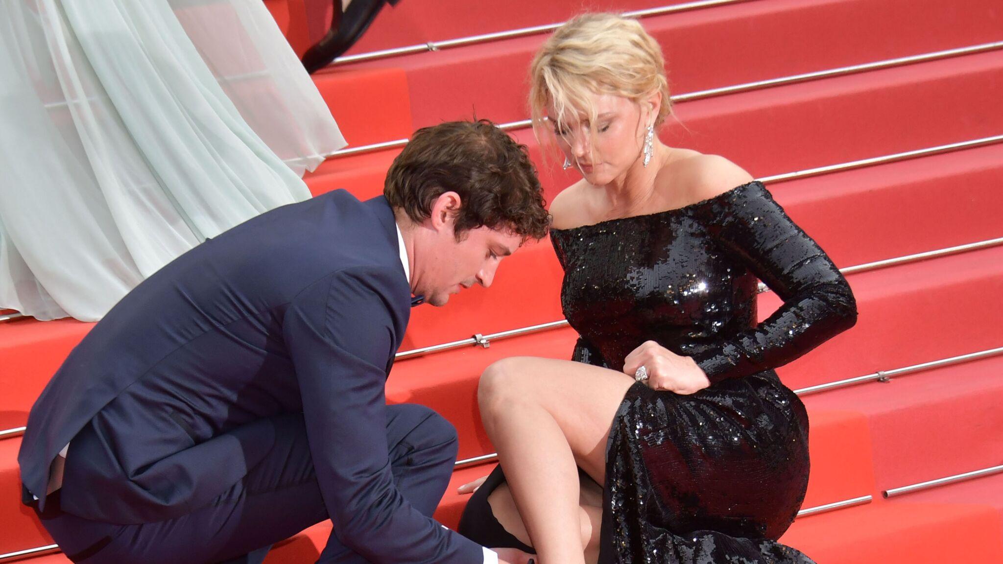 PHOTOS Festival de Cannes 2019 : Virginie Efira en grosse galère, Niels Schneider vole à son secours
