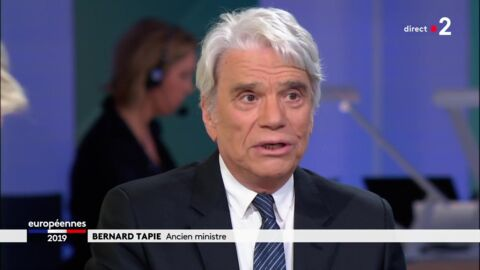 VIDEO Bernard Tapie aphone sur le plateau de France 2, la raison de son absence de voix